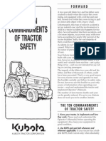 Kubota 10 Commandments Tractor Safety
