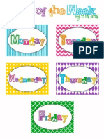 Days of the Week Free PrintAble