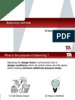 TA  Balancing Methods