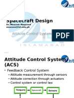 Attitude Control System Spacecraft Design