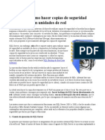 SQL Server Copias de Seguridad en Unidades de Red