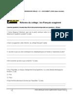 PDF CO C1 doc long  La rèforme du collège - les Français exagèrent.