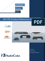 Audiocodes SIP CPE Product Reference Manual Ver. 6.2 LTRT-52307
