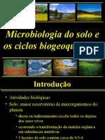 Aula 9 Microbiologia Do Solo - Microbiota Do Solo, Ciclos Biogeoquimicos 2011.1