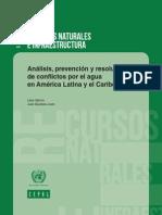 CEPAL Resolucion Conflictos Agua