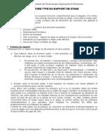 Adili Structure Type Du Rapport de Stage