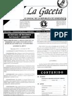 Publicación Gaceta Reglamento  Regulacion de Gases Contaminantes y Humo de Vehiculos