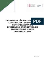Drd 06_15. Criterios Técnicos Control Externo de La Certificación Energética (Completo)