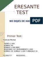 Interesante Test