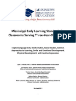 Mississippi Early Learning Standards for 3yo