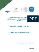 Manual Tecnico Del Libro de Calificaciones Del Cetmar 05-1 Por Modulo