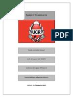 XV Boletìn Informativo Semanal UCR 2015