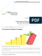 20 Customer Retention Strategies - Marketing Wizdom