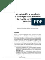 Aproximación Al Estado de La Investigación en Empresas de Familia en Colombia 1989 2009