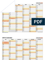 2015 Calendar Landscape 2 Pages