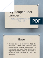 Ley Bouguer Beer Lamber