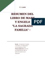 V.I. LENIN Resumen de La Sagrada Familia