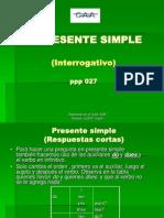 Ppp 027 PRESENTE SIMPLE Interrogativo
