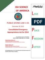 Public Divine Law 1-01 2014