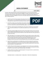 Sand Island Media Statement - PASS