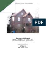 Energy Efficiency Associates – Energy Audit Report