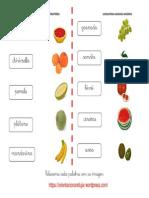 Relacionar Con La Imagen Frutas 3