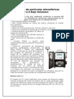 Captadores de Partículas Atmosféricas PM 10 y PM 2
