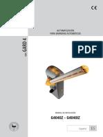 Barrera Vehícular KX-BG-GA Manual de Instalación