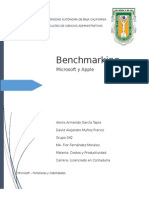 Benchmarking, Microsoft Apple
