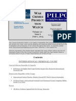 War Crimes Prosecution Watch Volume 10 - Issue 6 June 1, 2015