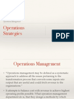 Operations Strategies