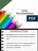 Goal Programming New1