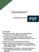 crankshaft construction