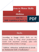 Introduction to Motor Skills & Abilities