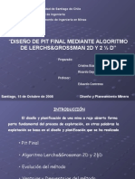Diseño Pit Final Lerchs y Grossman