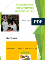 programacion de programas preventivos promocionales