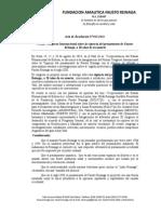 Acta de La Resolución de Fausto Reinaga