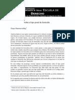 N° 14 Sobre El Tipo Penal de Femicidio Por Diego Hammerschlag