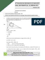 164 INMO Exam 2015 Solution by Resonance