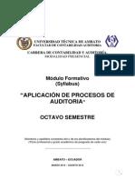 Módulo Formativo Aplicación de Procesos de Auditoria 2013