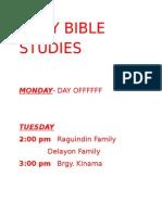 Daily Bible Studies