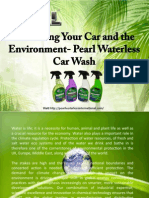 Protecting Your Car and the Environment- Pearl Waterless Car Wash