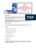 Formacion Auditores Internos Folleto