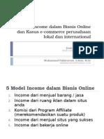 5 Model Income Dalam Bisnis Online Dan Kasus Perusahaan Lokal Dan International