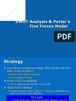 SWOT Analysis and Porters Model