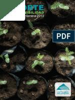 Informe de sostenibilidad 2013 Antamina