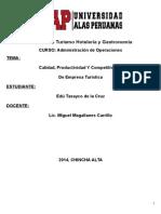 Monografia Cientifica-calidad Productividad y Competitividad de Empresa