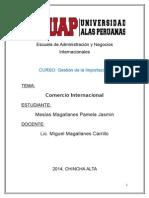 . Comercio Internacional  monografia