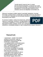 Trasaturi Roman Modern