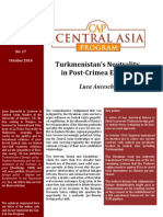 Luca Anceschi - Turkmenistan's Neutrality in Post-Crimea Eurasia